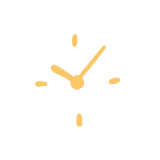Graphic of clock
