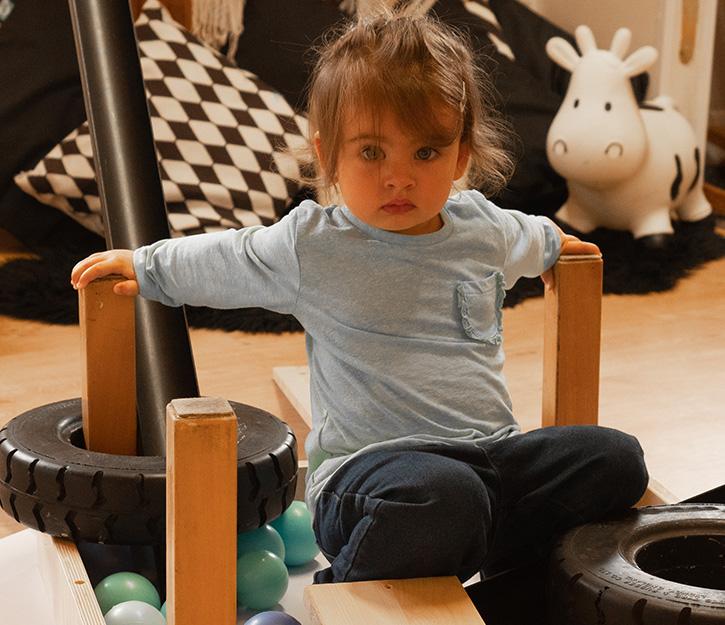 child staring into camera