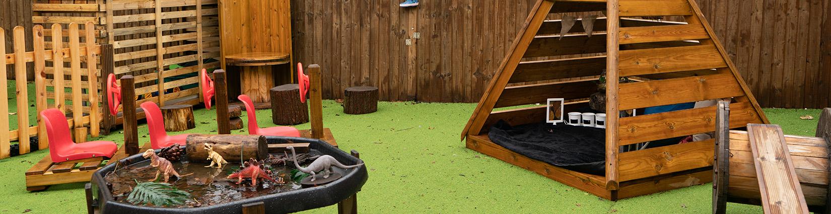 little hands daycare Stourbridge outside play area